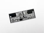 Moth Mic custom plate
